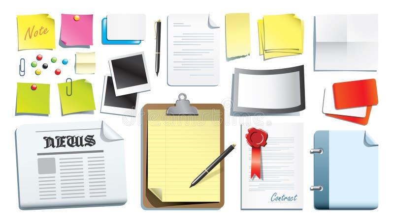 Het ontwerp van de kantoorbehoeften vector illustratie