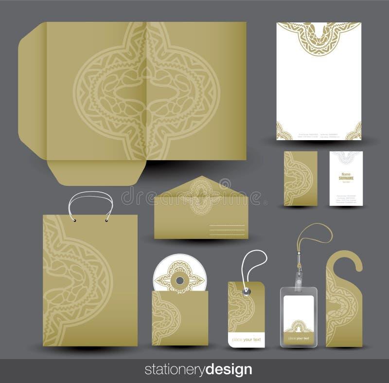Het ontwerp van de kantoorbehoeften dat in vectorformaat wordt geplaatst vector illustratie