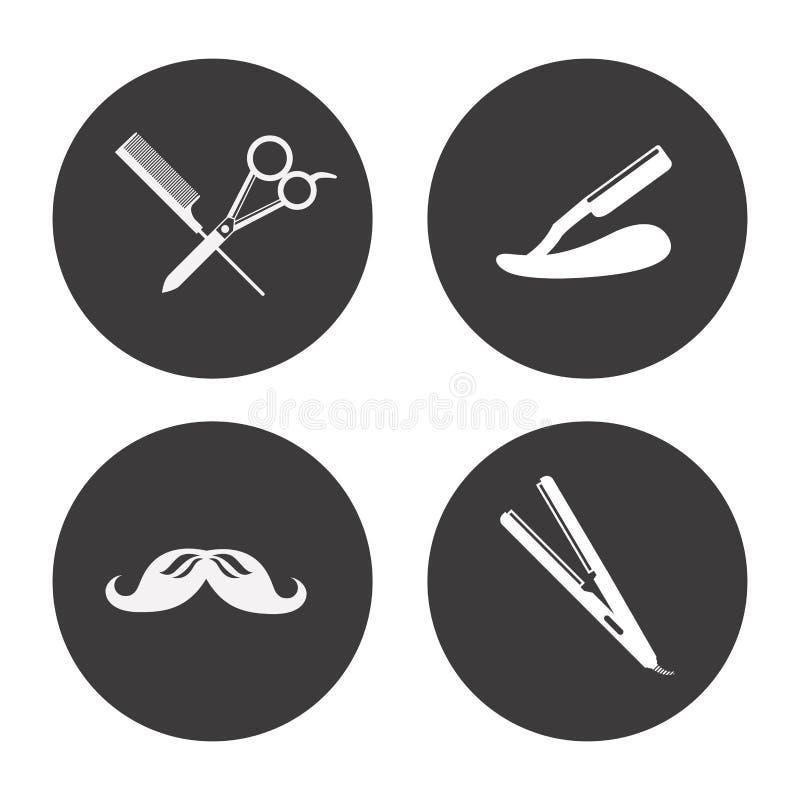Het ontwerp van de kapperswinkel vector illustratie
