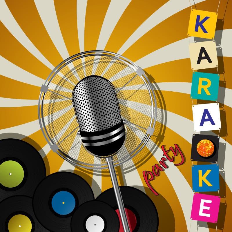 Het ontwerp van de karaokepartij royalty-vrije illustratie