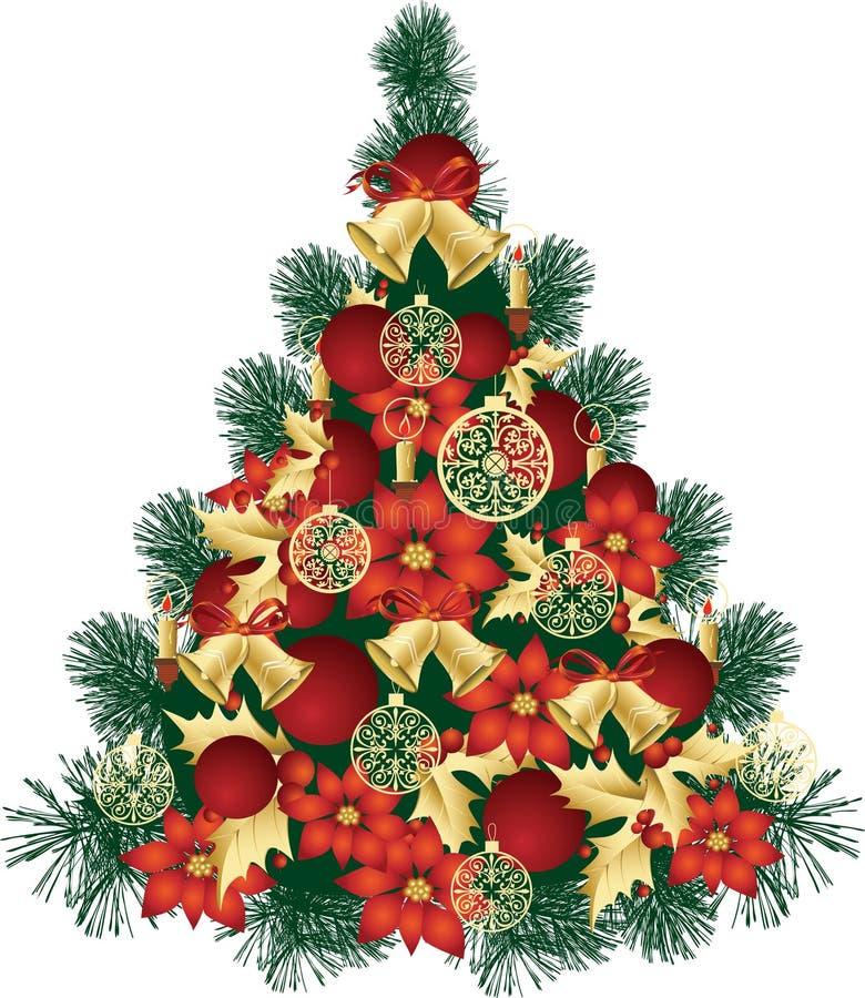 Het Ontwerp van de kerstboom vector illustratie