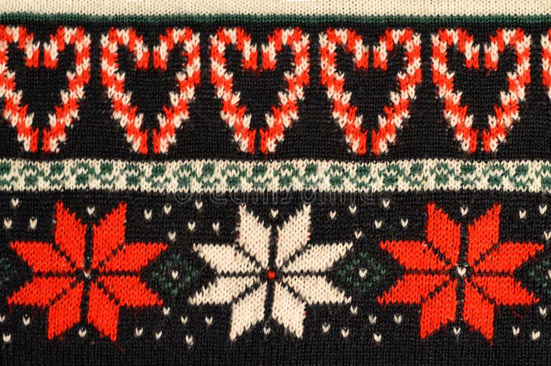 Het Ontwerp van de Kerstmissweater stock foto