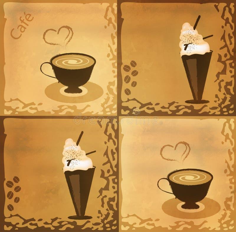 Het Ontwerp van de koffie royalty-vrije illustratie