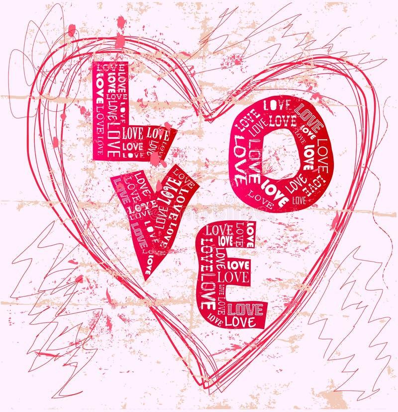 Het ontwerp van de liefde royalty-vrije illustratie