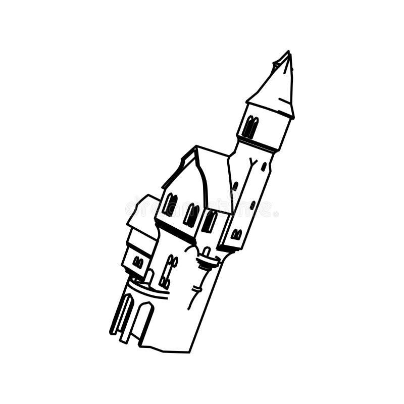 Het ontwerp van de lijnkunst van Burg stock illustratie