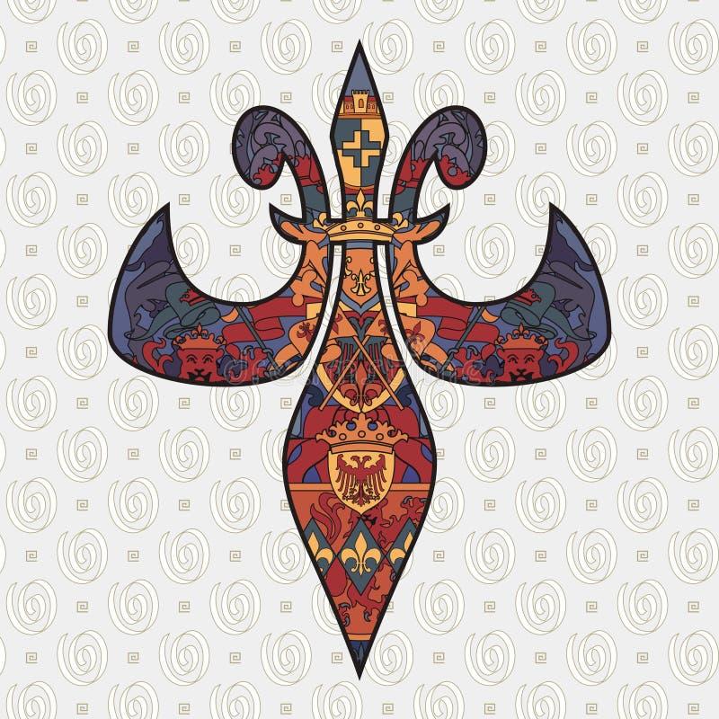 Het ontwerp van DE lis van Fleur royalty-vrije illustratie