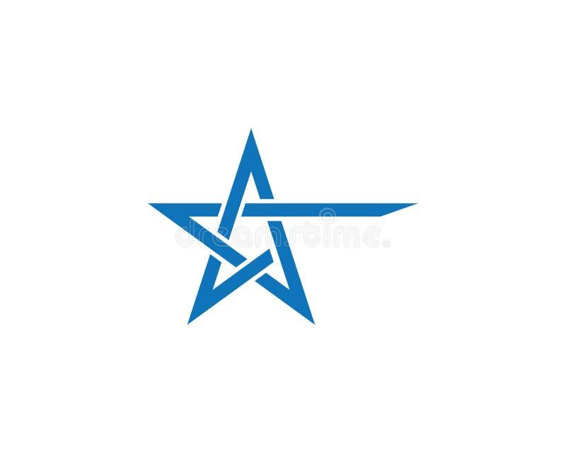 Het ontwerp van de het malplaatjeillustratie van het sterembleem stock illustratie