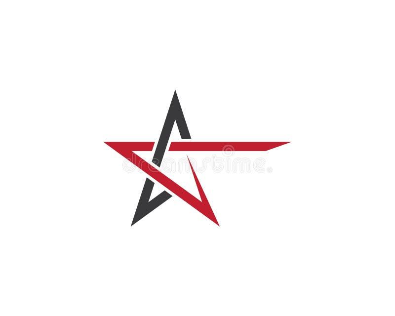 Het ontwerp van de het malplaatjeillustratie van het sterembleem royalty-vrije illustratie