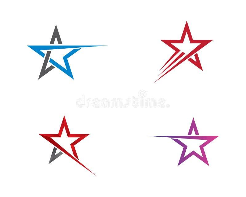 Het ontwerp van de het malplaatjeillustratie van het sterembleem vector illustratie