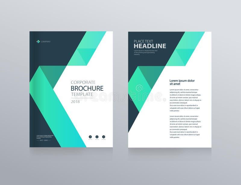 Het ontwerp van de malplaatjelay-out met dekkingspagina voor bedrijfprofiel, jaarverslag, brochures, vliegers, royalty-vrije illustratie