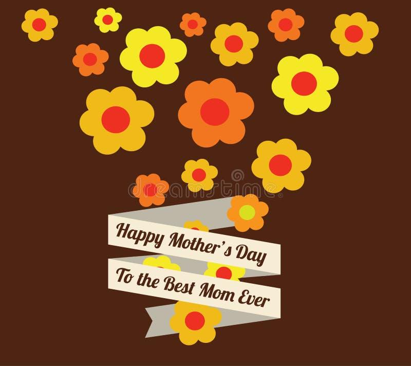 Het ontwerp van de moedersdag royalty-vrije illustratie