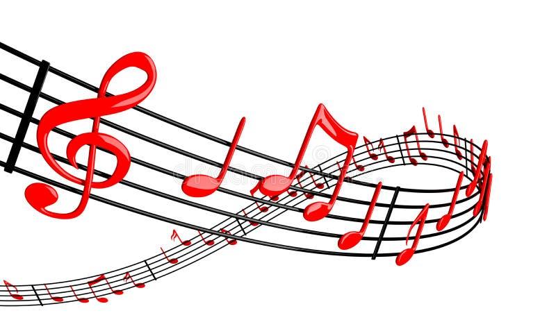Het ontwerp van de muziek royalty-vrije illustratie