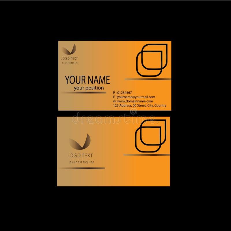 Het ontwerp van de naamkaart stock illustratie