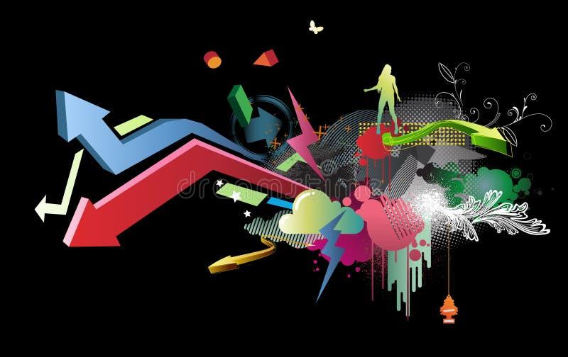 Het ontwerp van de partij royalty-vrije illustratie