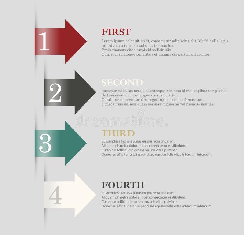Het ontwerp van de pijleninformatie Infographicvector royalty-vrije illustratie