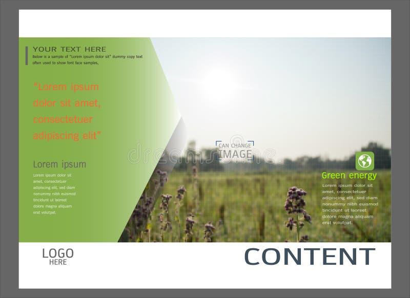 Het ontwerp van de presentatielay-out voor het malplaatje van de bedrijfsdekkingspagina stock illustratie