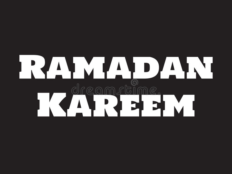 Het ontwerp van de Ramadan kareem tekst vector illustratie