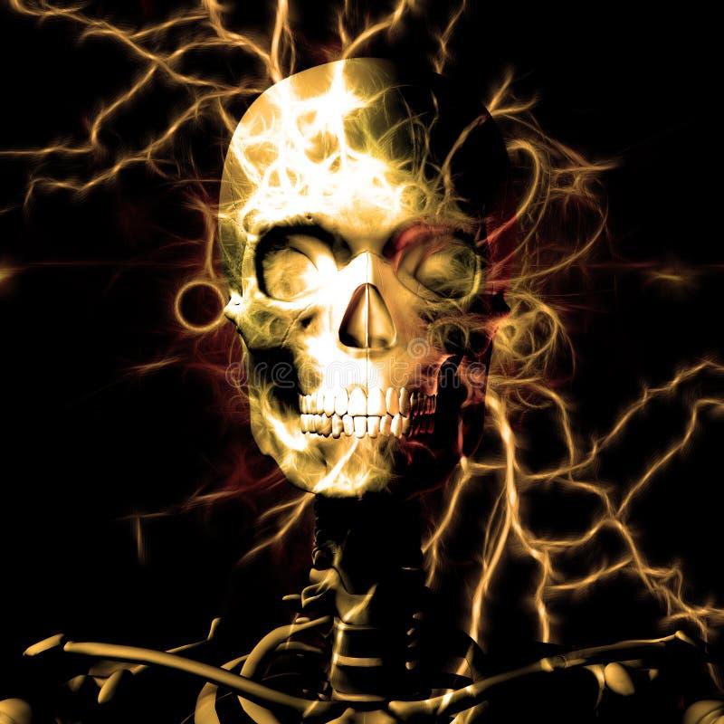 Het ontwerp van de schedel stock illustratie