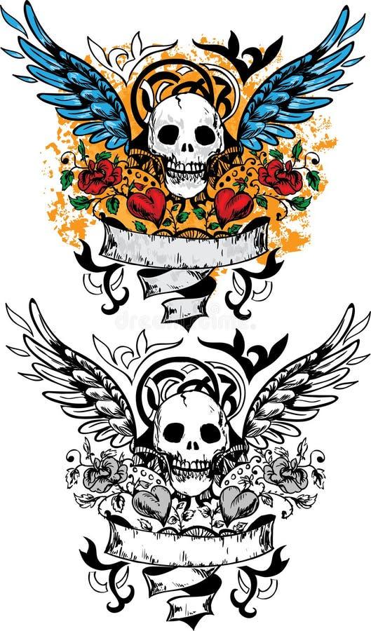 Het ontwerp van de schedel royalty-vrije illustratie