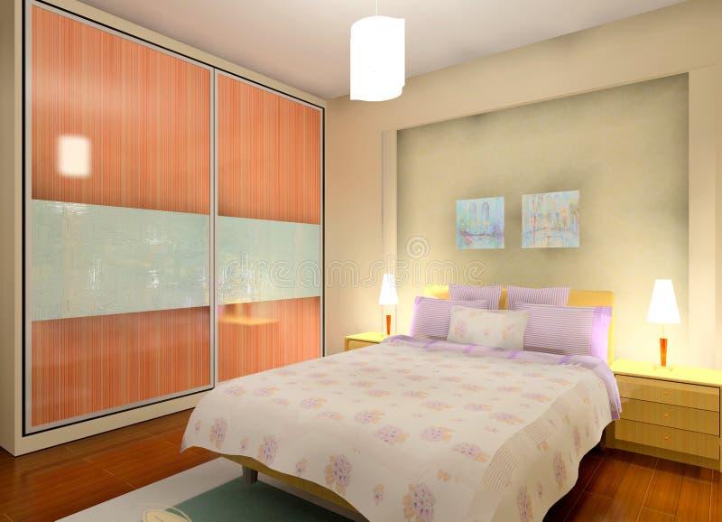 Het ontwerp van de slaapkamer royalty-vrije illustratie