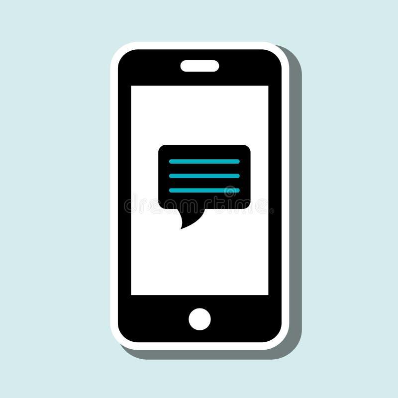 het ontwerp van de smartphonediensten royalty-vrije illustratie