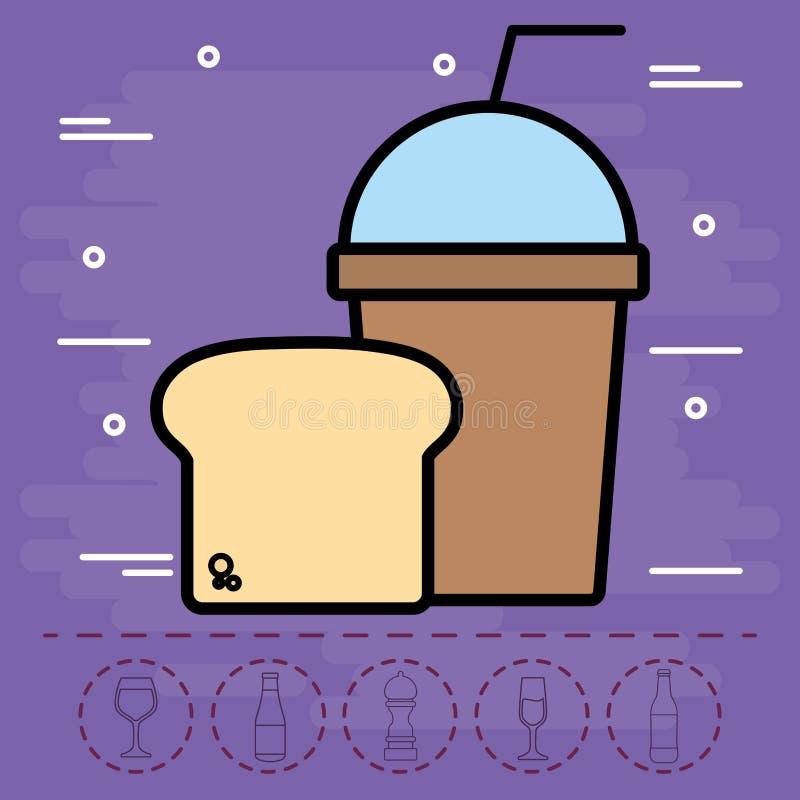 Het ontwerp van de Smoothiedrank stock illustratie