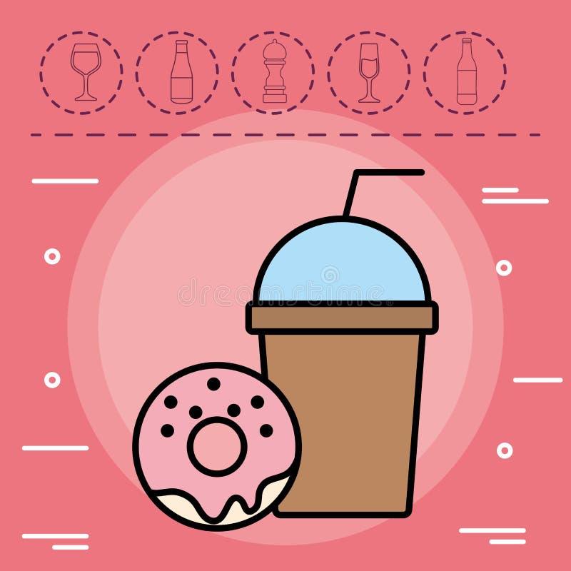 Het ontwerp van de Smoothiedrank vector illustratie