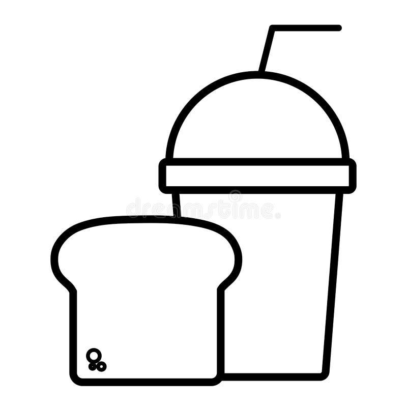 Het ontwerp van de Smoothiedrank royalty-vrije illustratie
