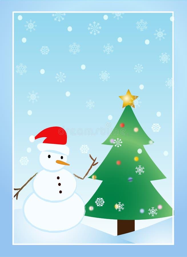 Het ontwerp van de sneeuwman royalty-vrije illustratie