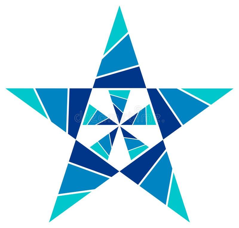 Het ontwerp van de ster royalty-vrije illustratie