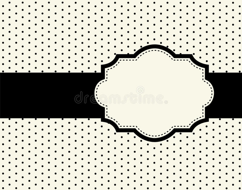 Het ontwerp van de stip met frame royalty-vrije illustratie