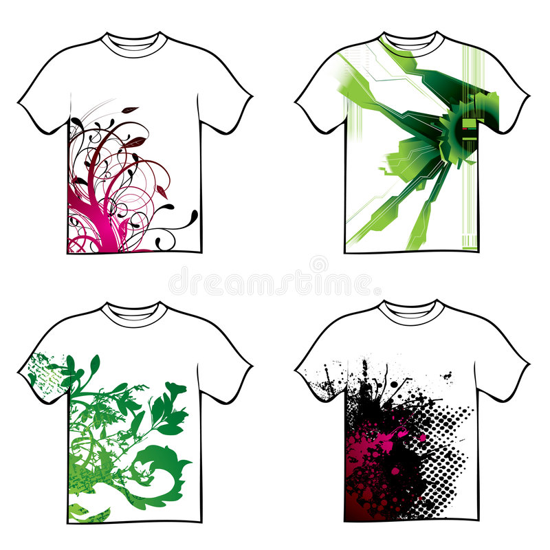 Het ontwerp van de t-shirt vector illustratie