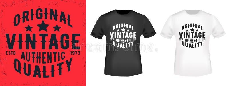 Het ontwerp van de t-shirtdruk royalty-vrije illustratie