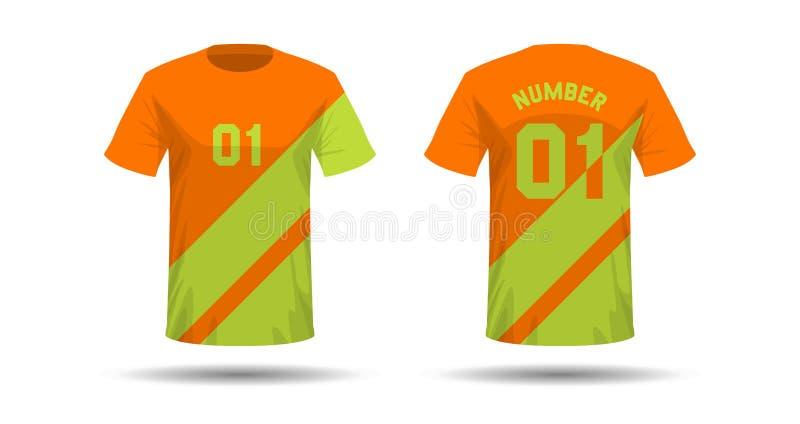 Het ontwerp van de t-shirtsport stock illustratie