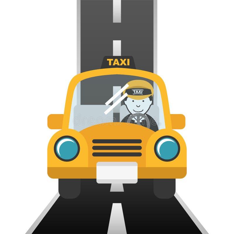 Het ontwerp van de taxidienst royalty-vrije illustratie