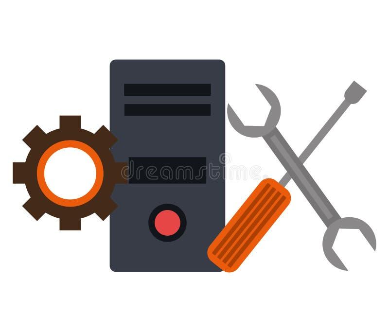 Het ontwerp van de technologiediensten royalty-vrije illustratie