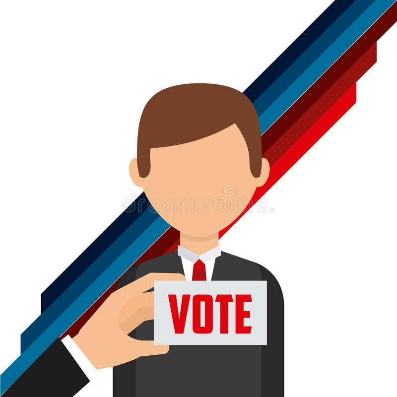 Het ontwerp van de verkiezingendag stock illustratie