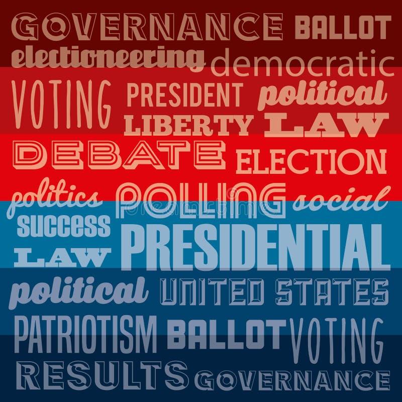 Het ontwerp van de verkiezingendag vector illustratie