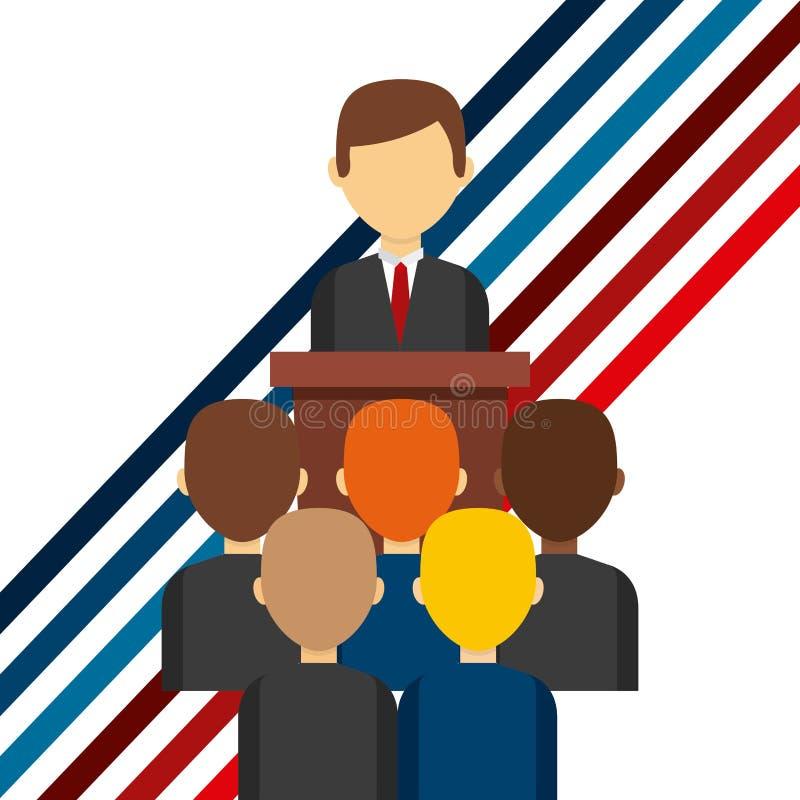Het ontwerp van de verkiezingendag royalty-vrije illustratie