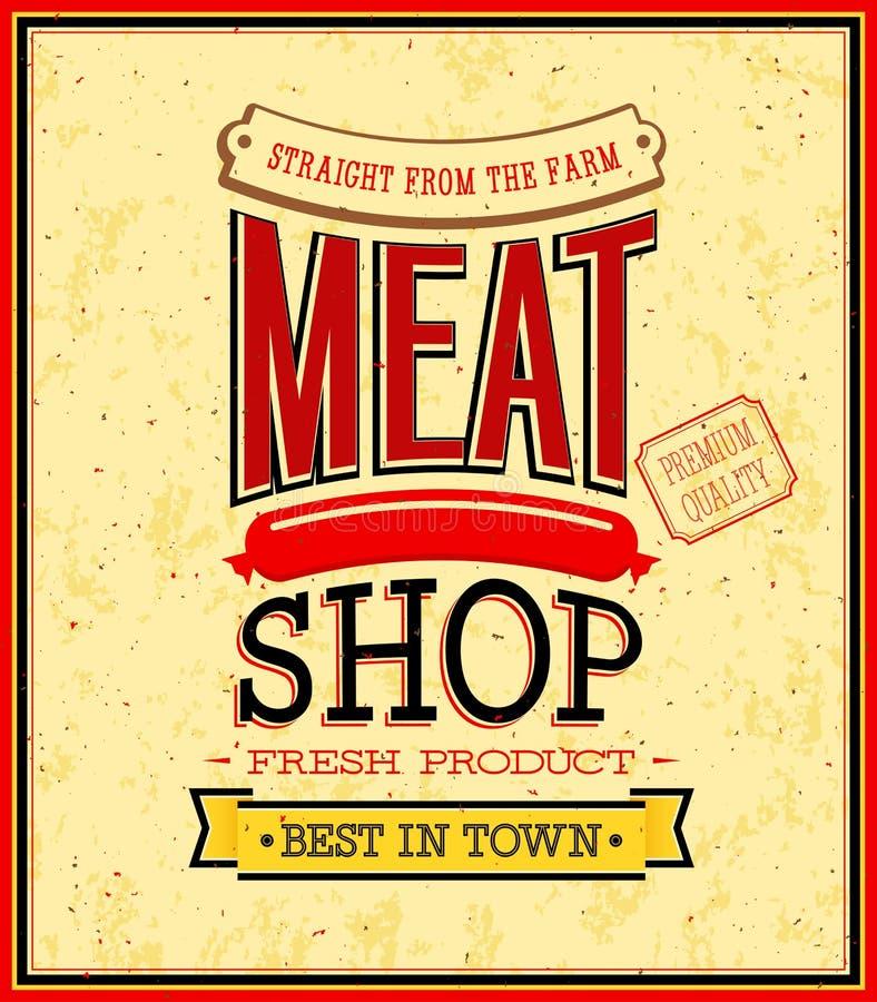 Het ontwerp van de vleeswinkel. royalty-vrije illustratie