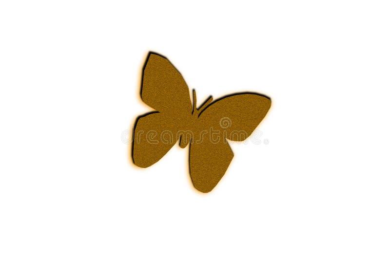 Het ontwerp van de vlinderillustratie op de zwarte achtergrond royalty-vrije stock fotografie