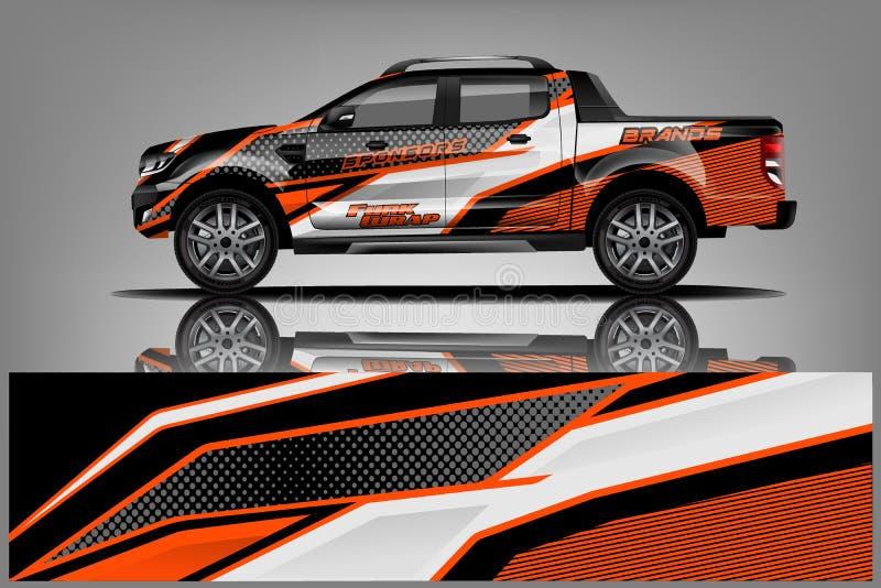 Het ontwerp van de vrachtwagenomslag voor bedrijf royalty-vrije illustratie