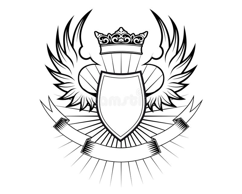 Het ontwerp van de wapenkunde royalty-vrije illustratie