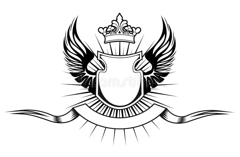 Het ontwerp van de wapenkunde stock illustratie