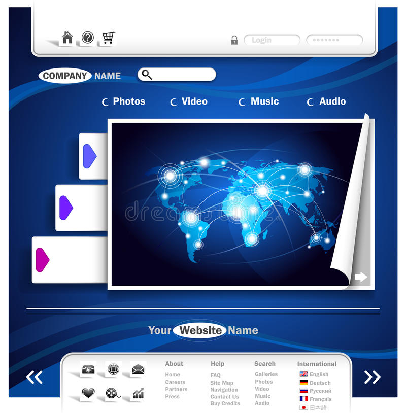Het ontwerp van de website vector illustratie