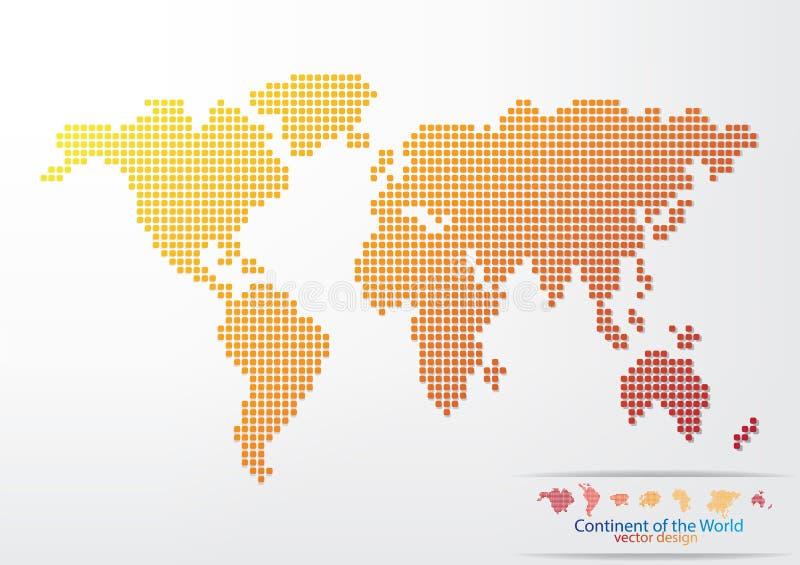 Het ontwerp van de wereldkaart stock illustratie