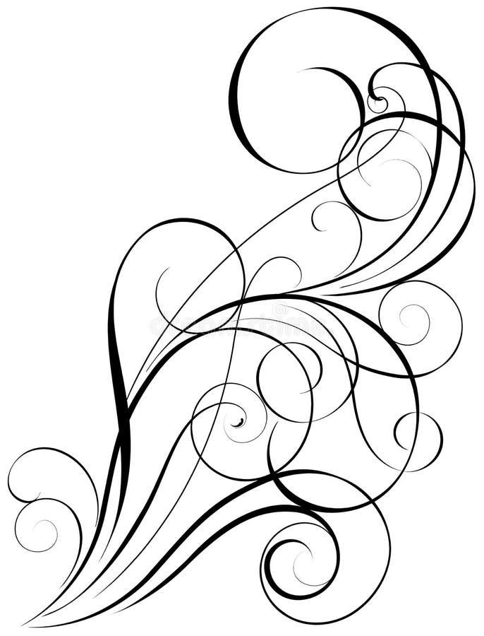 Het ontwerp van de wervelingskunst vector illustratie
