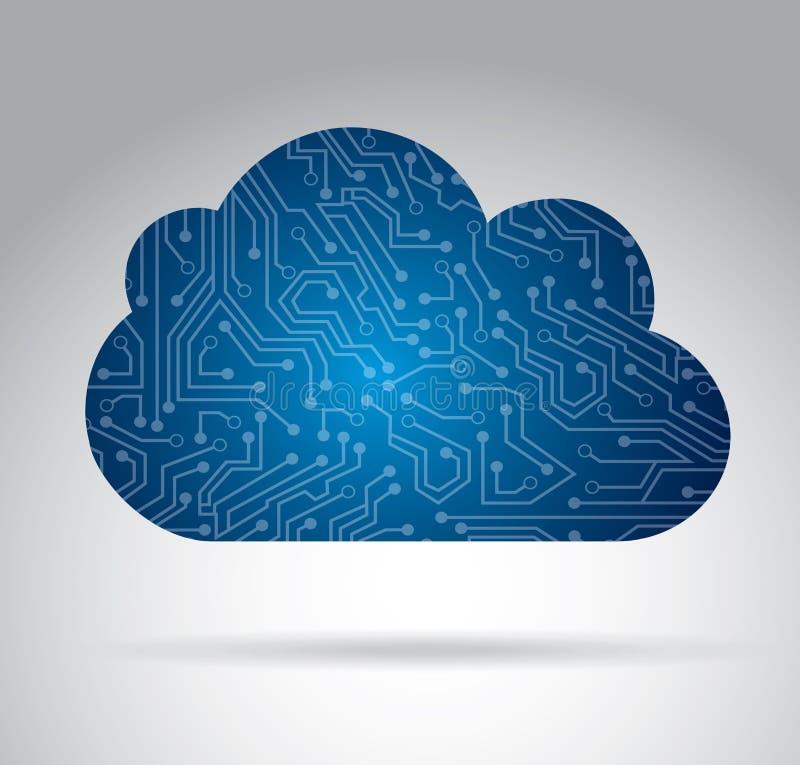 Het ontwerp van de wolkenkring stock illustratie