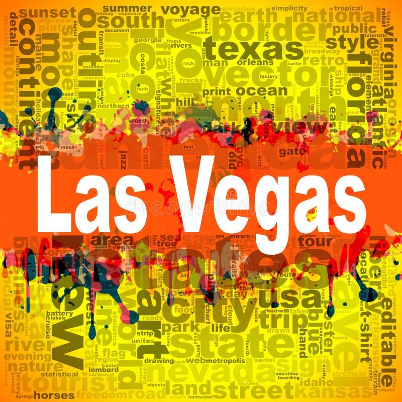 Het ontwerp van de het woordwolk van Las Vegas royalty-vrije illustratie