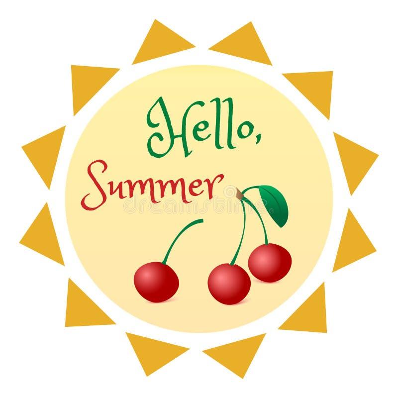 Het ontwerp van de de zomerzon, kleurrijk de zomeretiket of tekenontwerp, vector vector illustratie